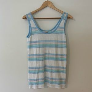 VINTAGE CLASSIC BRAND OLD STRIPED PASTEL SURF TEE